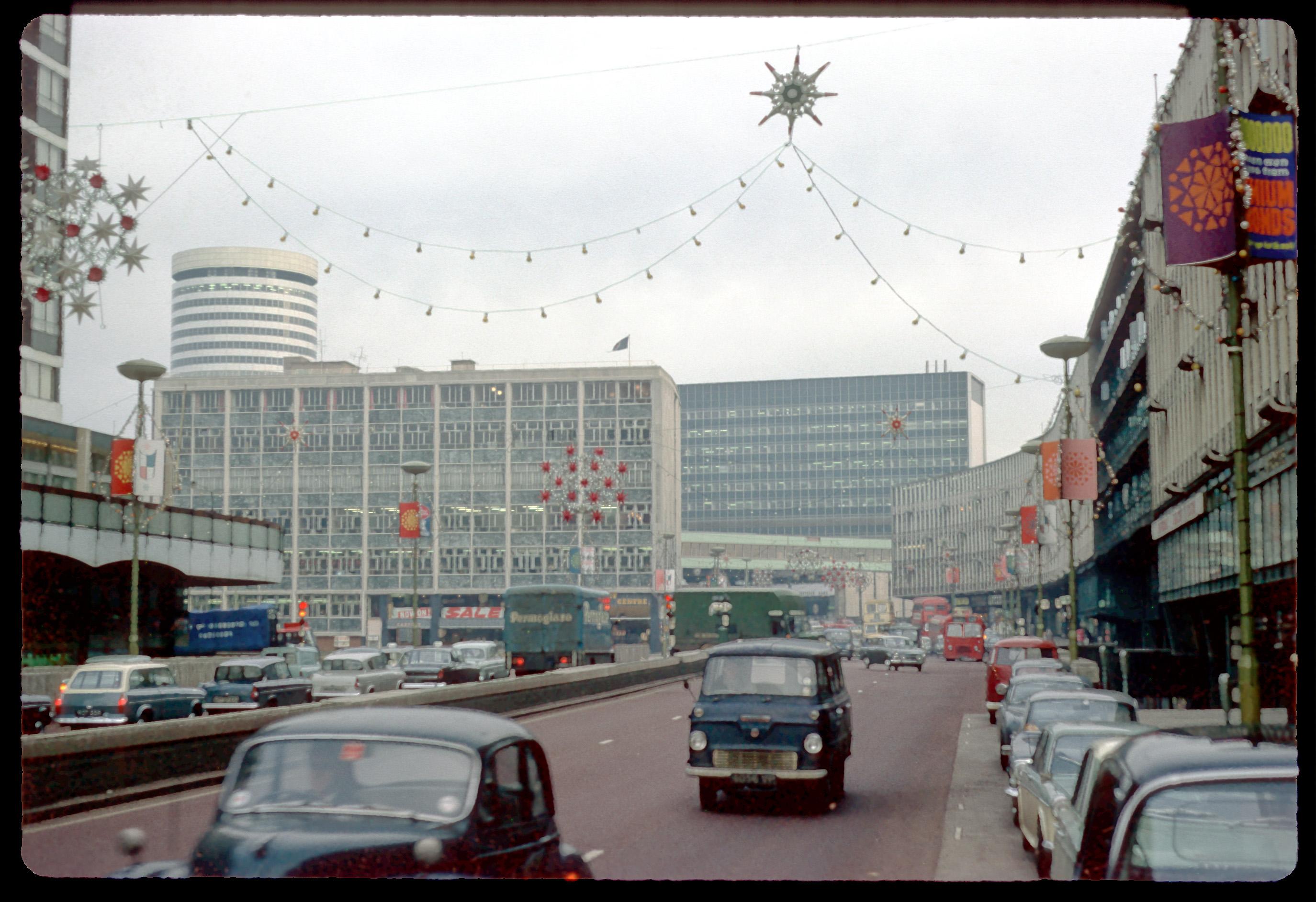 Birmingham Christmas Lights.Smallbrook Ringway With Christmas Lights Birmingham