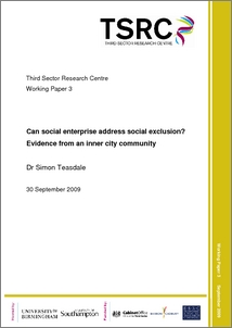 Can social enterprise address social exclusion? Evidence